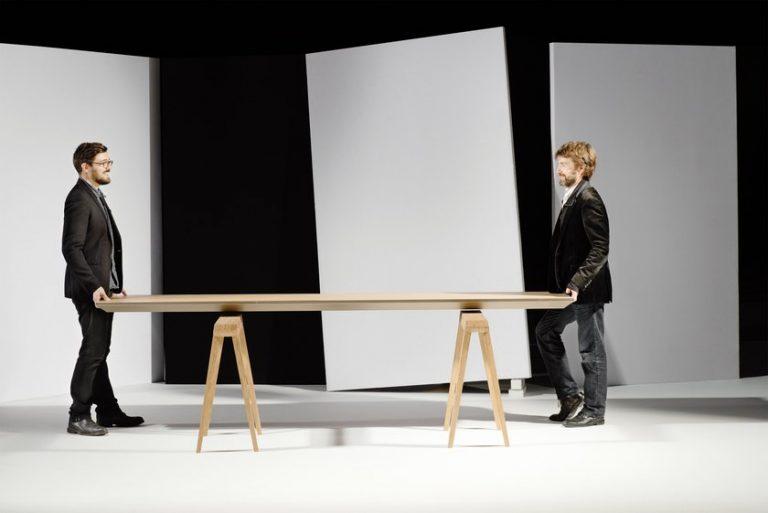 Jean-Sébastien Lagrange et Raphaël Ménard dessine une table climatique