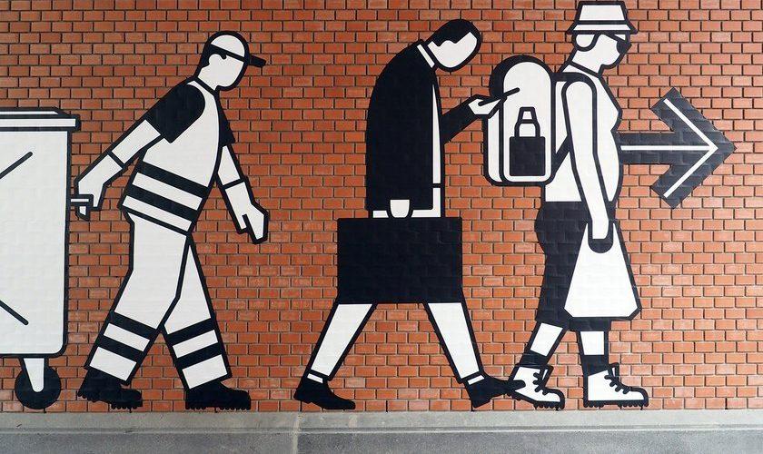"Ruedi Baur illustre ""What people do for money?"""