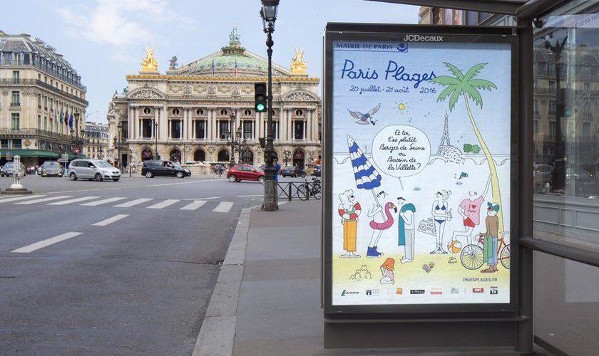 Clo'e Floirat signe le graphisme de Paris Plage
