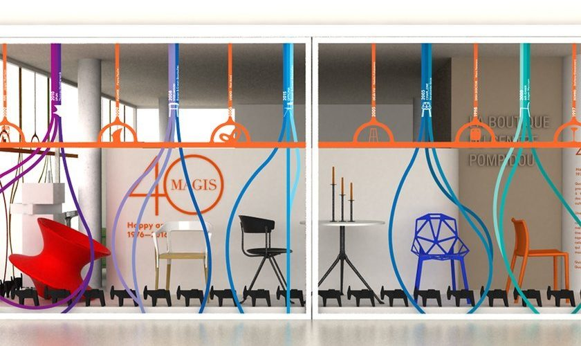 Magis fête ses 40 ans à la boutique du Centre Pompidou