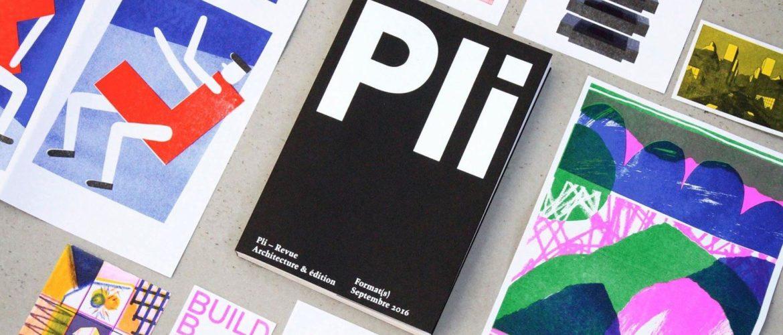 Présentation de la revue Pli au Pavillon de l'Arsenal le 22/09
