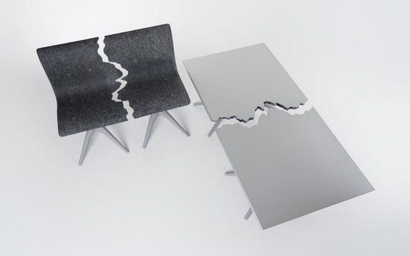 Fractured, le mobilier fait à partir de matières recyclées
