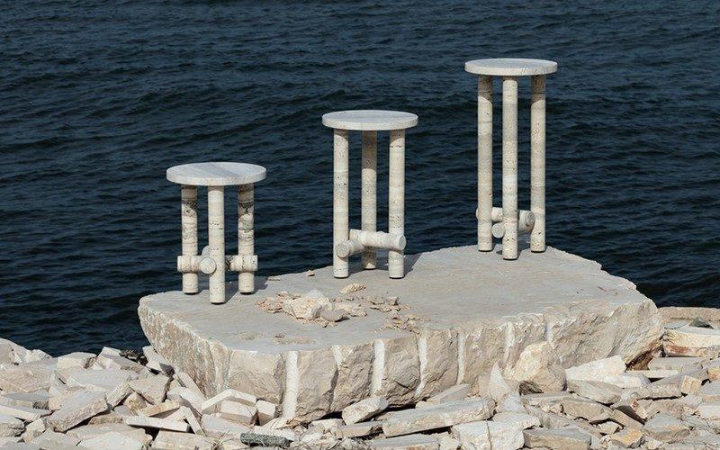 La collection de tables en pierre brute de Clément Brazille
