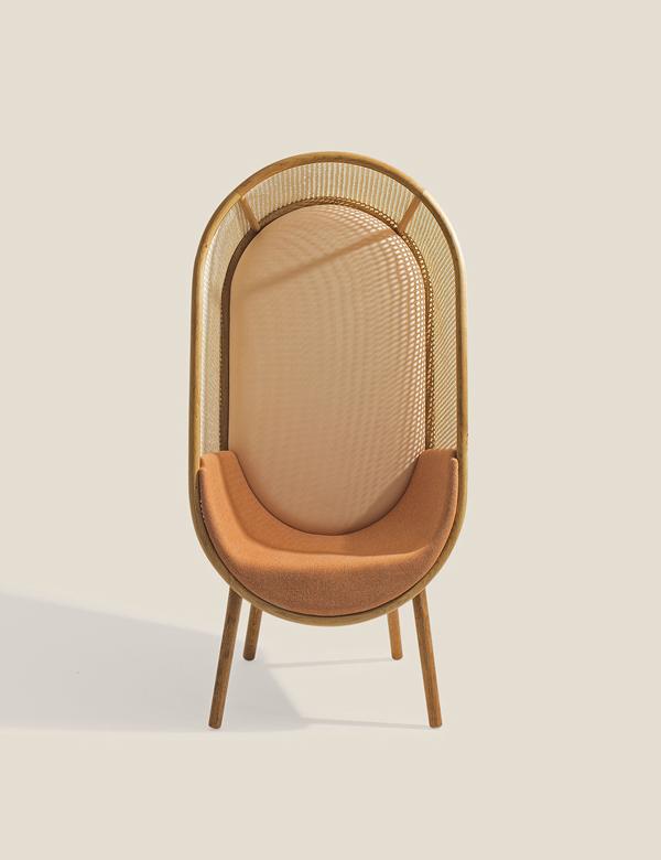 Cocoon_Kevin_Hviid_Martin_Kechayas_design_fauteuil_années_60_sixties_camel