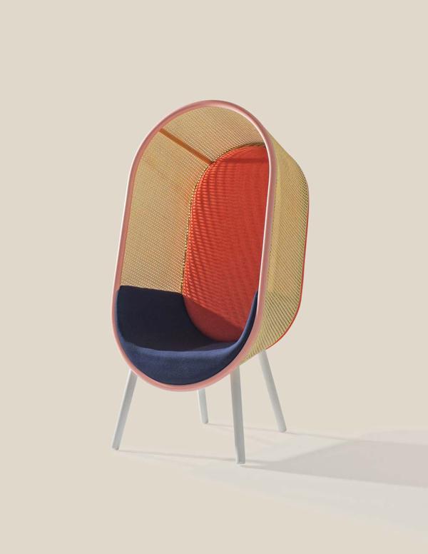 Cocoon_Kevin_Hviid_Martin_Kechayas_design_fauteuil_années_60_sixties_couleur