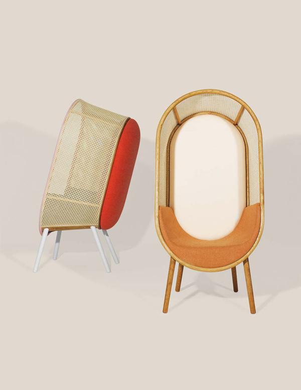 Cocoon_Kevin_Hviid_Martin_Kechayas_design_fauteuil_années_60_sixties_face_profil