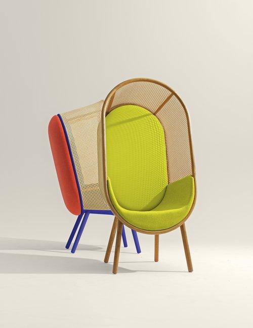 Cocoon_Kevin_Hviid_Martin_Kechayas_design_fauteuil_années_60_sixties_jaune