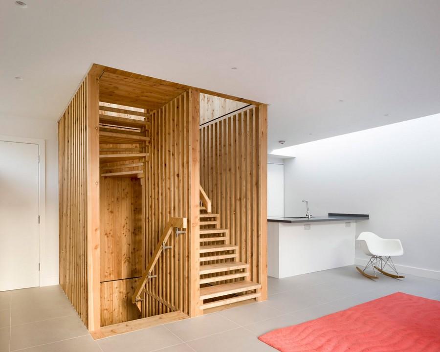 un escalier sur mesure pour cette maison londonienne intramuros. Black Bedroom Furniture Sets. Home Design Ideas