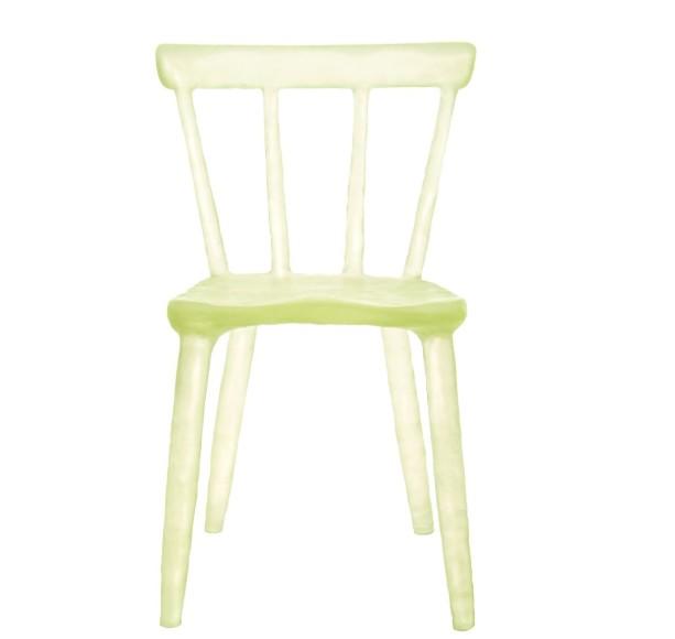 kim_markel_glow_chairs_collection_chaises_design_plastique_recyclé_jaune