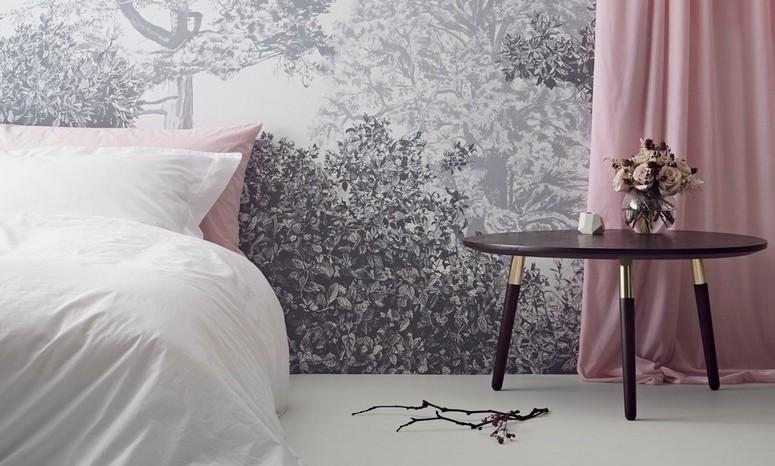 Hua Trees : le papier peint floral et magnétique de Sian Zeng