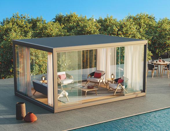La pergola Eivissa, designée par le duo Ludovica + Roberto Palomba