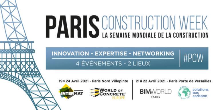 La toute première semaine mondiale de la construction se tiendra à Paris en 2021