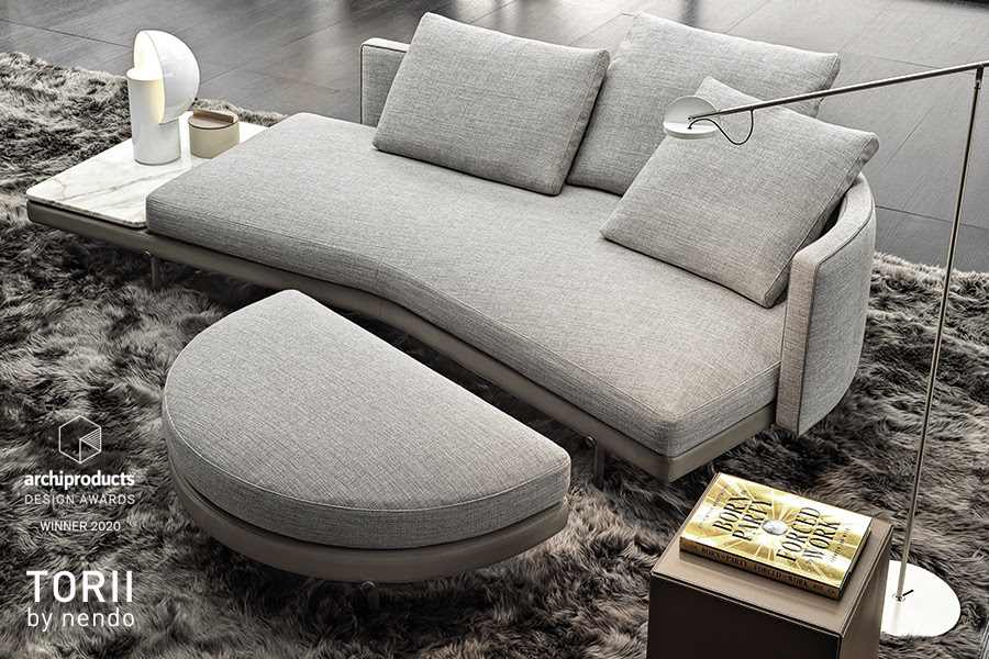 Minotti, canapé TORII design Nendo_intramuros.fr
