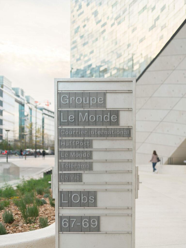 Groupe Le Monde selon Snøhetta Intramuros