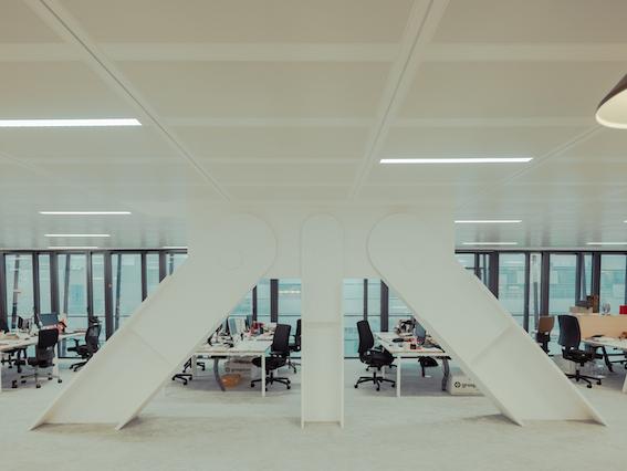 intérieurs bureaux collaborateurs Le Monde selon Snøhetta Intramuros