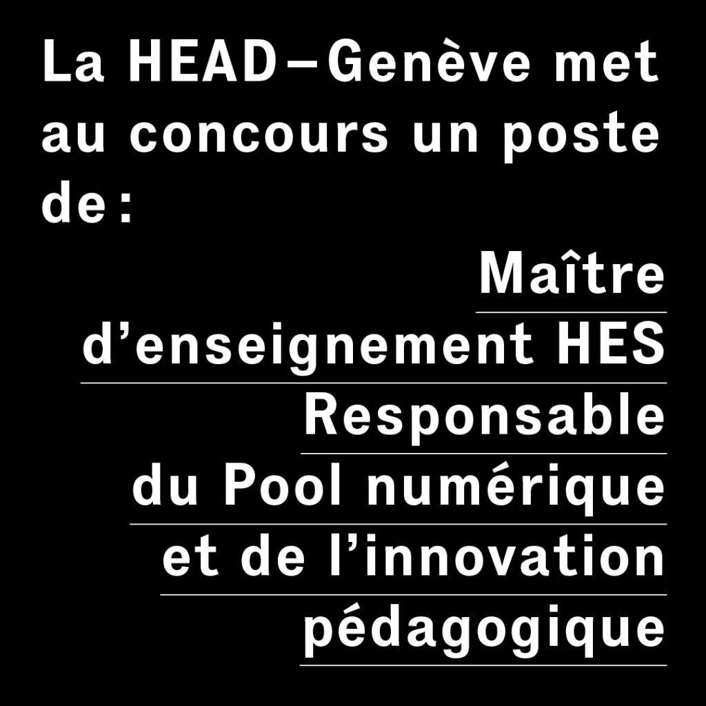 RECRUTEMENT HEAD RESPONSABLE POOL NUMERIQUE